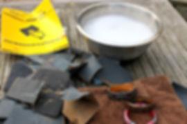 Sanding polymer clay