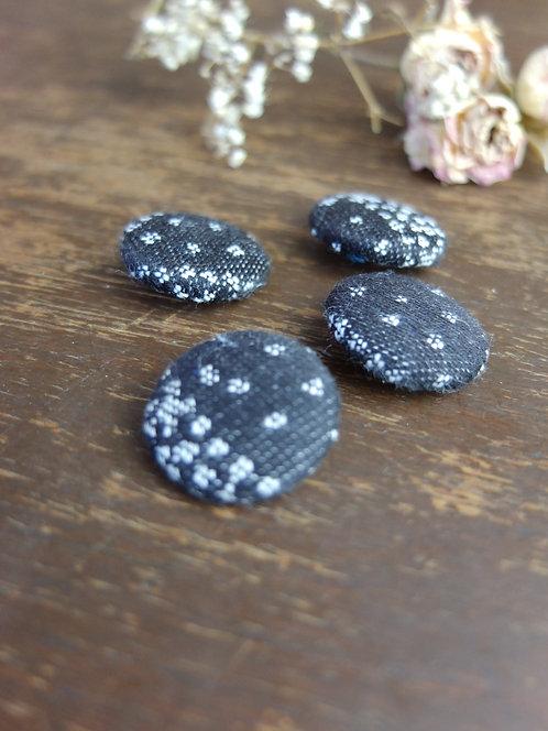 Starry Night Midnight Buttons