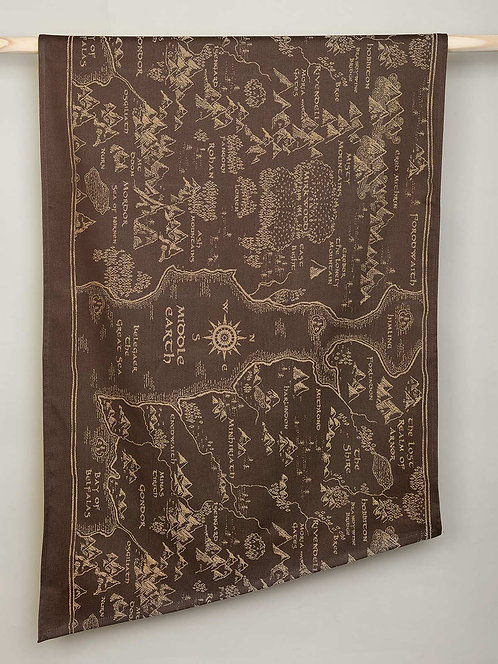 Map of Middle Earth Scroll Fabric