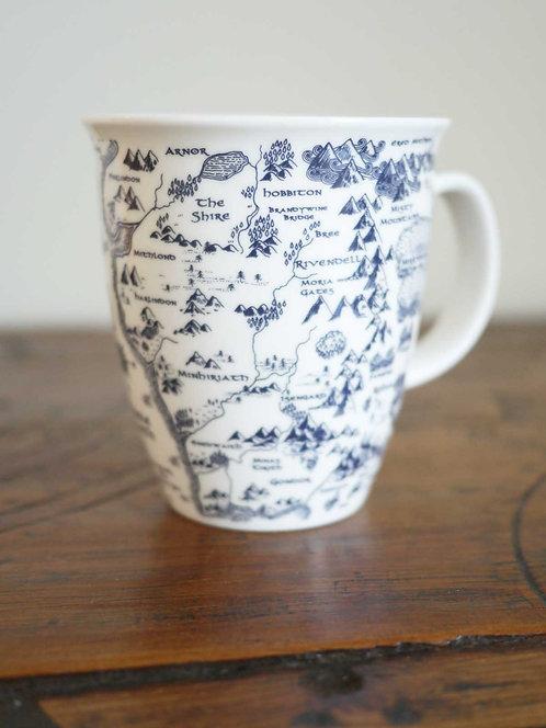 Map of Middle Earth Indigo Mug