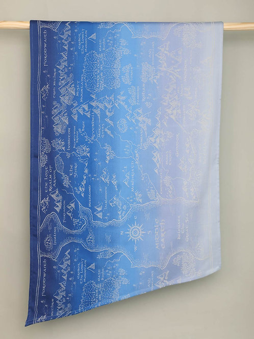 Map of Middle Earth Aduial Fabric