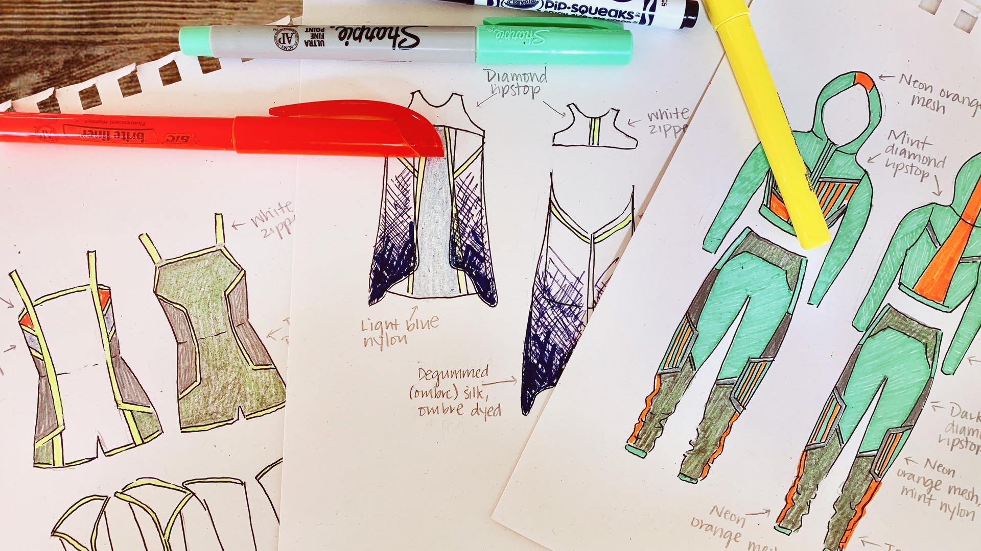 Margaret Garrison Design NYFW Sketches