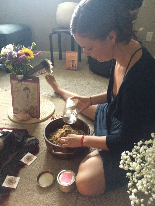 Sacred Salt Bowl @ a blessingway