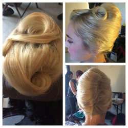 Facebook - #1950 #hairstylist #hairstyle #blonde #setlife #victory #curls #DeadH