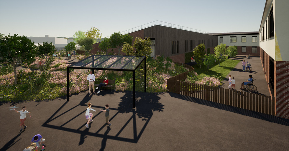 CGI proposed courtyard