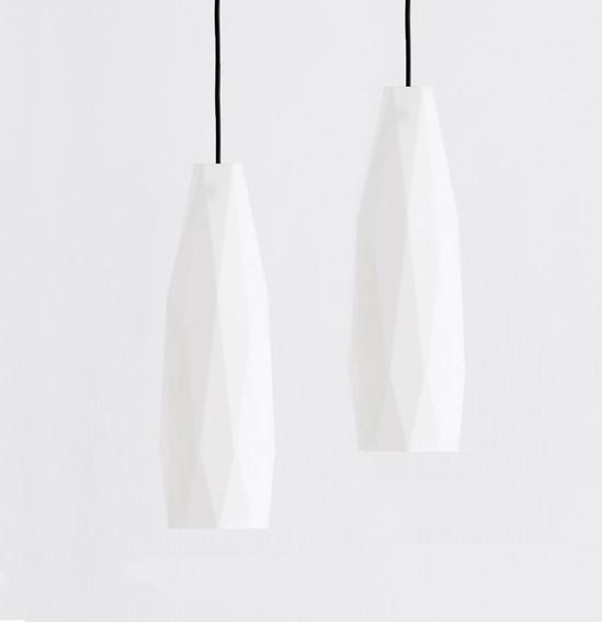 Biomaterial Pendant Lamps