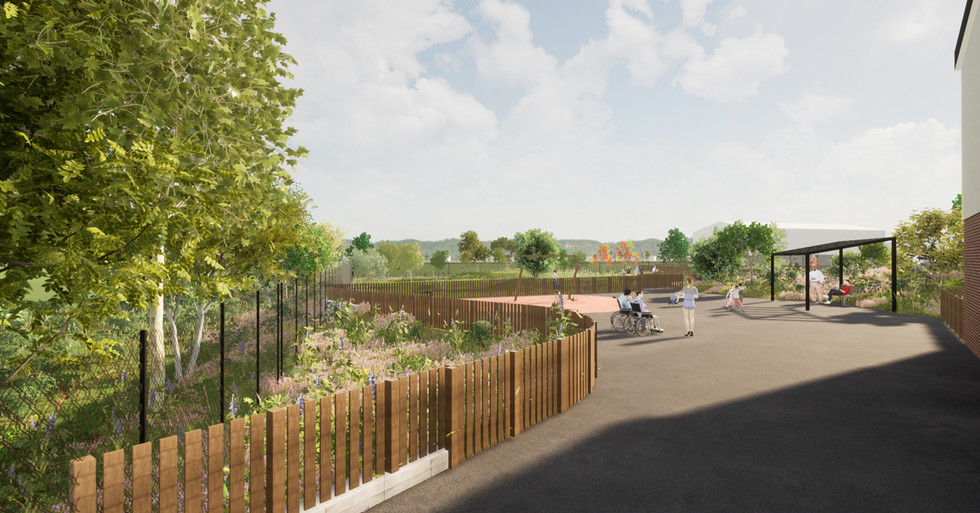 CGI proposed woodland garden
