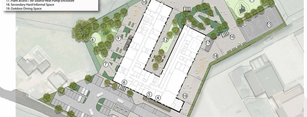 Two Bridges Academy Rendered Site Plan
