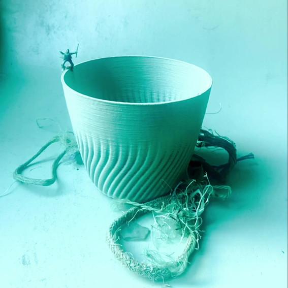 Oceana Plant Pot made from recycled Ocean Plastics
