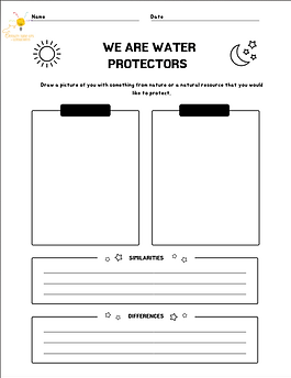 We Are Water Protectors Drawing Sheet.pn