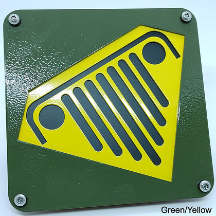 Super Jeep 2 Color - Green Front Plate