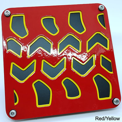 Tire Tread 2 Color - Red Front Plate