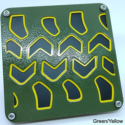 Tire Tread 2 Color - Green Front Plate