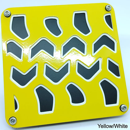 Tire Tread 2 Color - Yellow Front Plate