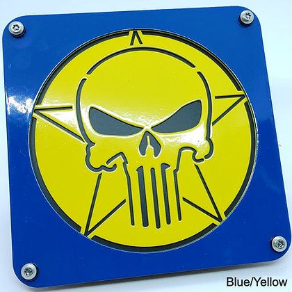 Skull 2 Color - Blue Front Plate