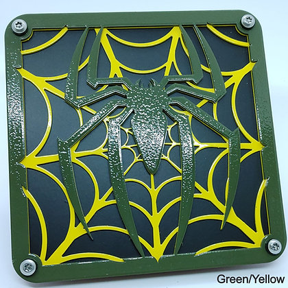 Spider Web 2 Color - Green Front Plate