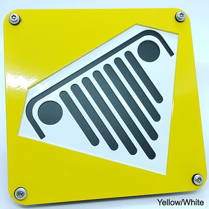 Super Jeep 2 Color - Yellow Front Plate
