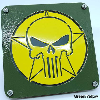 Skull 2 Color - Green Front Plate