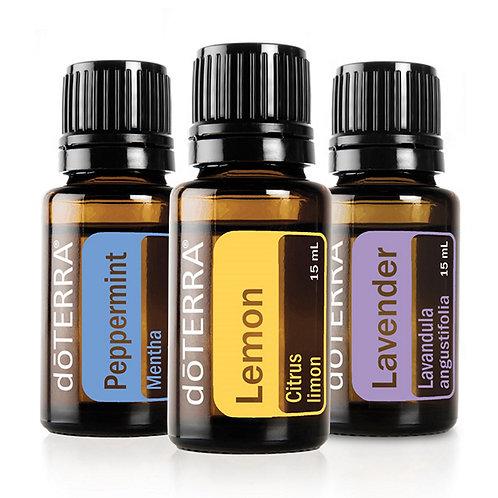 doTERRA Essential Oils Beginners Kit Lemon, Lavender, Peppermint
