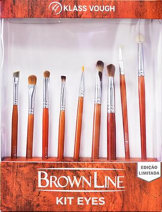 Kit Brown Line Eyes