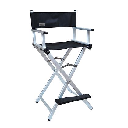 Cadeira profissional para maquiagem prata