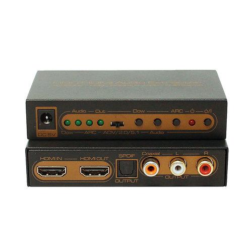 Extrator de Áudio HDMI 4K com HDR / ASKHDCN0022M1