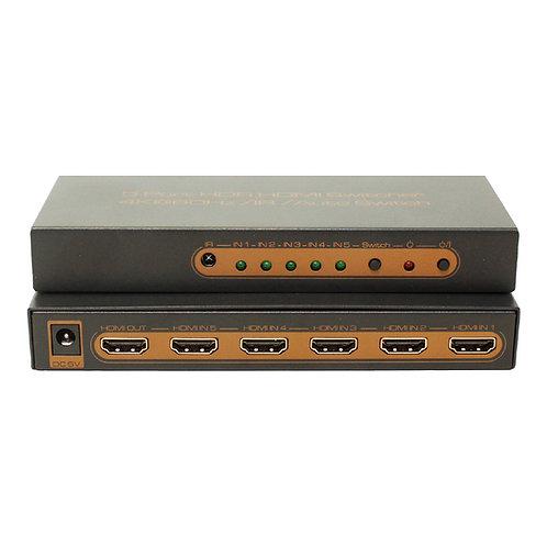 Switch HDMI 4K V2.0 HDR 5x1 portas / ASKHDSW0015M1