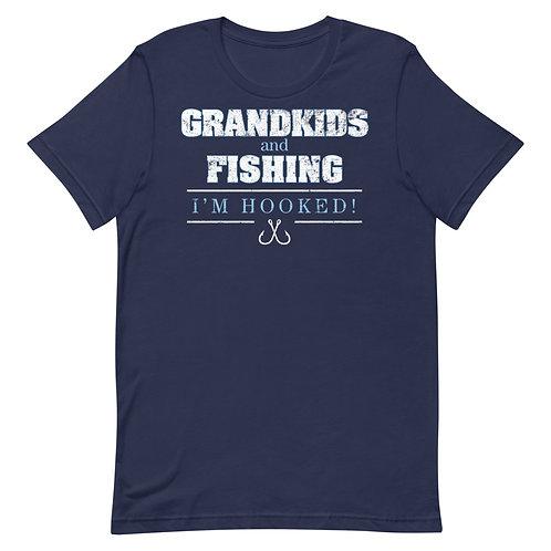 Grandkids and Fishing. I'm Hooked. Fun Grandma or Grandpa Fishing T-Shirt