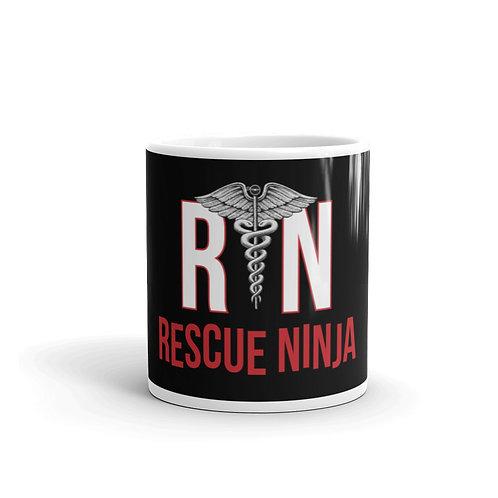 RN Rescue Ninja Funny Nurse Mug