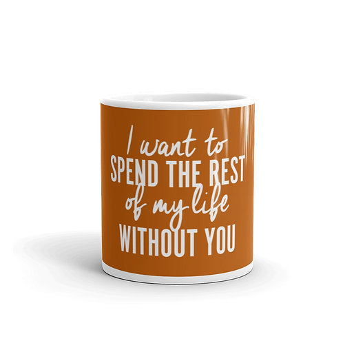 I Want To Spend The Rest Of My Life Without You Funny Snarky Mug