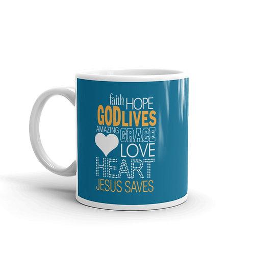God Lives Jesus Saves Fun Christian Mug