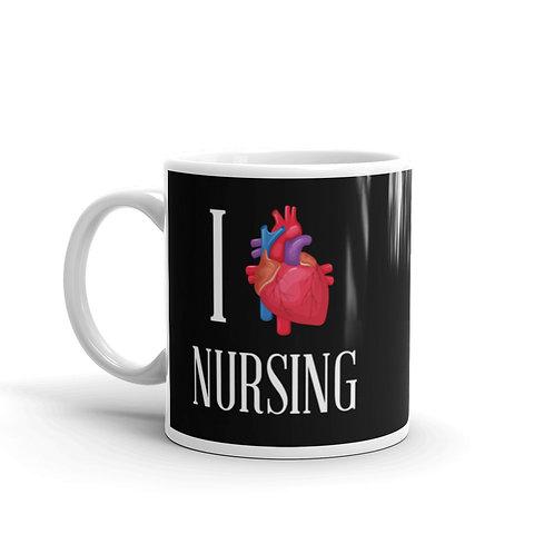 I Heart Nursing Funny Nurse Mug