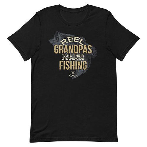 Reel Grandpas Take Their Grandkids Fishing. Funny Fishing Grandpa Shirt