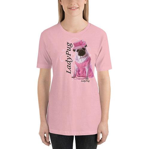 LadyPug Funny Pug Unisex T-Shirt