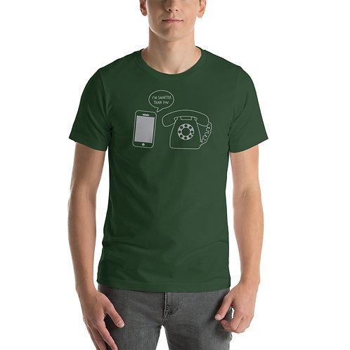 I'm smarter than you funny smart phone t-shirt
