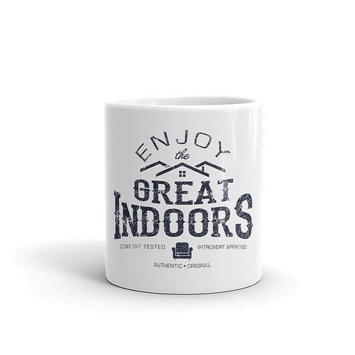 Enjoy The Great Indoors Funny Introvert Mug