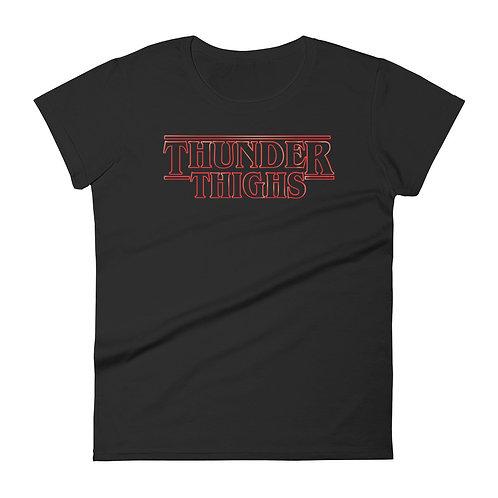 Thunder Thighs Funny Parody Women's T-shirt