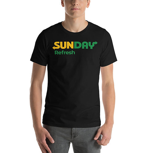 Sunday. Refresh. Funny Parody of Subway Christian T-Shirt