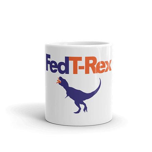 Fed T-Rex Funny Parody Dinosaur Mug