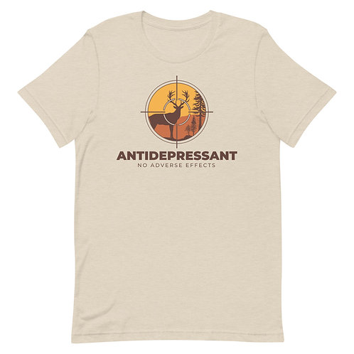 Antidepressant No Adverse Effects Funny Hunting Unisex T-Shirt