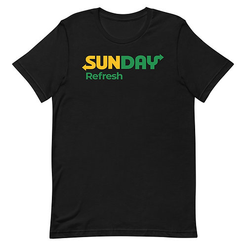 Sunday. Refresh. Funny Parody of Subway Christian T-Shirt