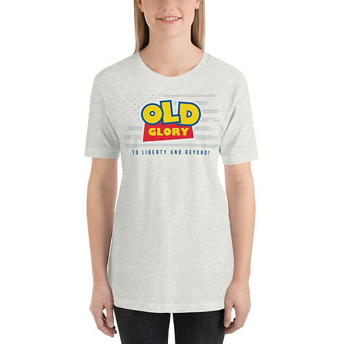 Old Glory American Flag, To Liberty and Beyond! Fun Toy Story Parody T-Shirt