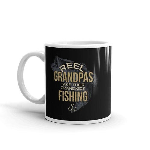 Reel Grandpas Take Their Grandkids Fishing Mug