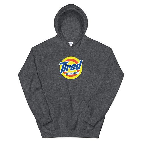 Tired of Laundry Funny Logo Parody Unisex Hoodie