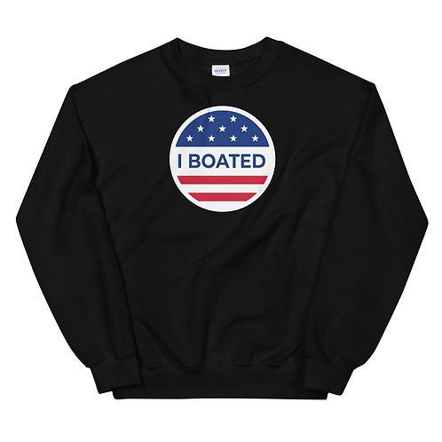I Boated (I Voted) Funny Boating Unisex Sweatshirt