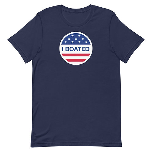 I Boated (I Voted) Funny Boating T-Shirt