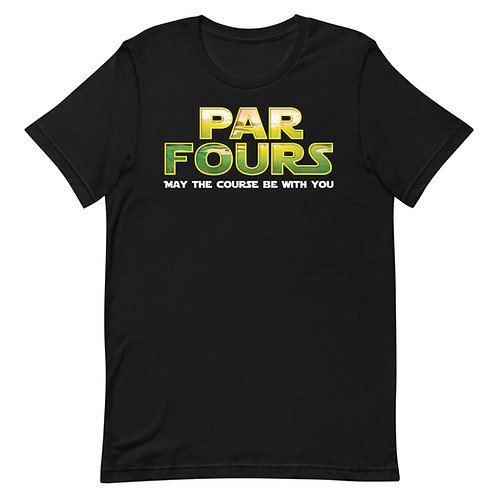 Par Fours May The Course Be With You Funny Golf T-Shirt