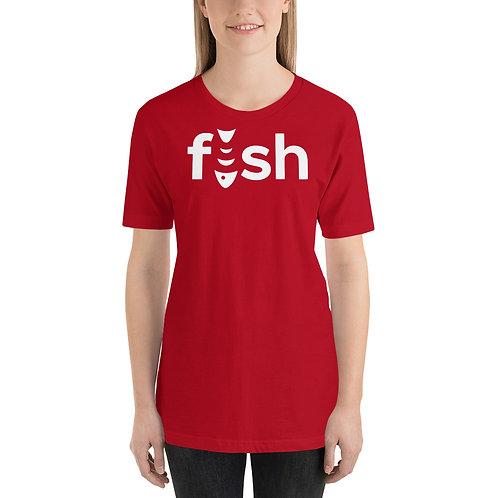 Fish. Funny Fishing Logo Parody Unisex T-Shirt