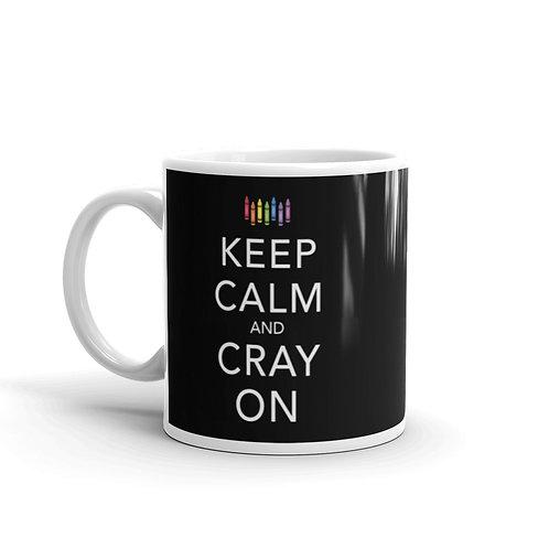 Keep Calm and Cray On Funny Crayon Mug