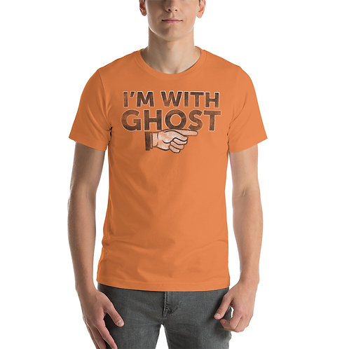 I'm With Ghost Funny Halloween Unisex T-Shirt